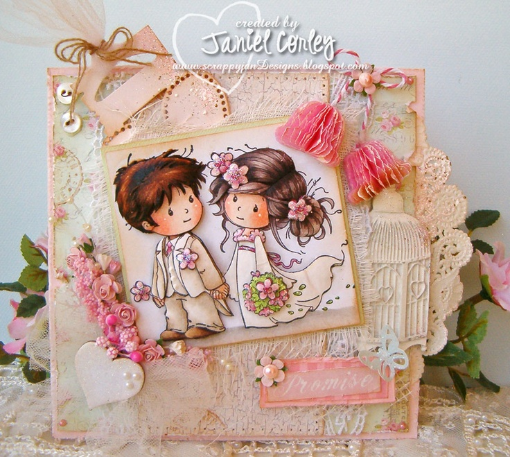 Wee Stamp LOVE ME DO card by Janiel Corley.. more photos on my blog: http://scrappyjandesigns.blogspot.com/2013/05/wee-wednesday-using-love-me-do.html