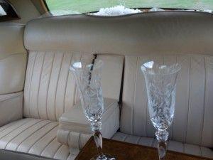 Inside an elegant rolls royce