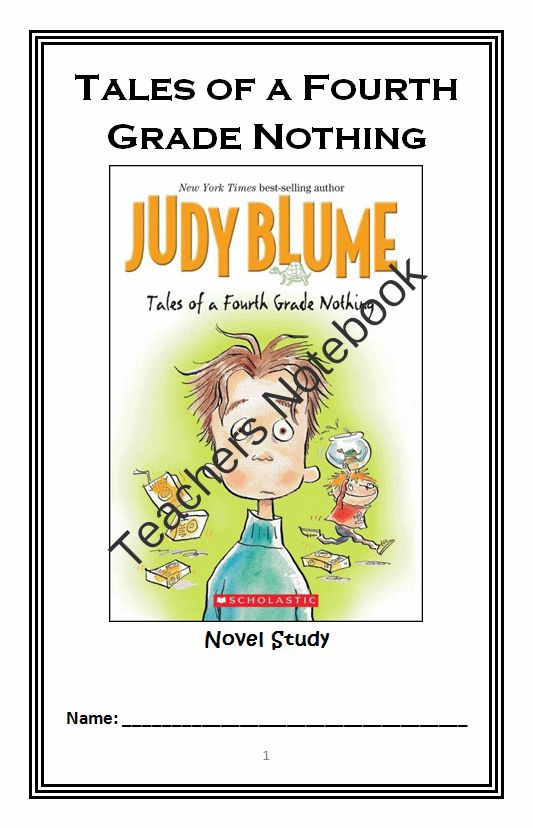 Tales of a Fourth Grade Nothing (Judy Blume) Novel Study / Reading Comprehension Journal from McMarie on TeachersNotebook.com -  (31 pages)  - A fun, engaging, 31-page booklet-style Novel Study complete with a challenging, book-based Word Jumble and Word Search.  Based on Judy Blume's 'Tales of a Fourth Grade Nothing.'