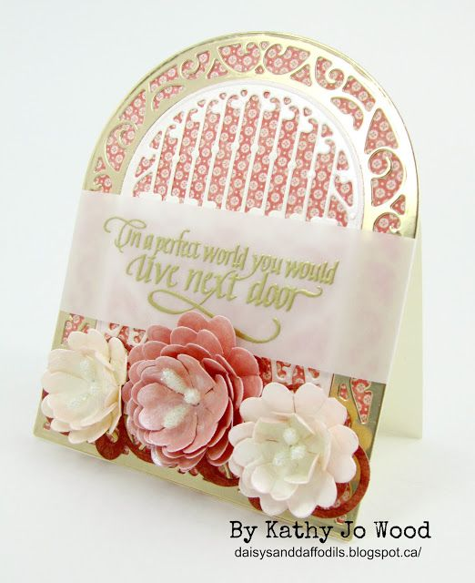 """""""In a perfect world..."""" handmade fancy fold, shaped card using Graphic 45, Becca Feeken, Spellbinders and Quietfire Design product."""