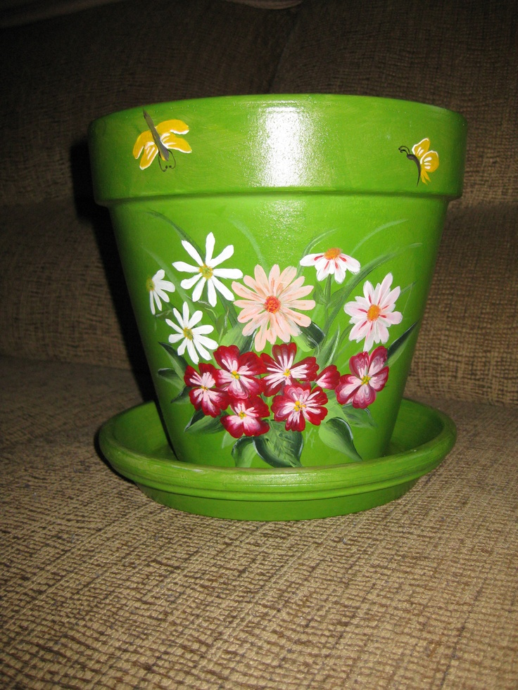 37 best images about flower pot ideas on pinterest for Pot painting materials required