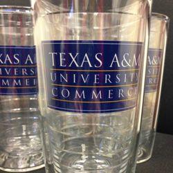Texas A&M University-Commerce Tumbler Set of 4 #tamuc