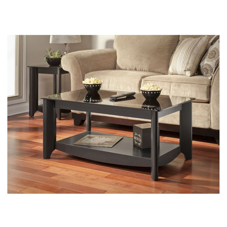 Bush My Space Aero Collection Classic Black Coffee Table | from hayneedle.com