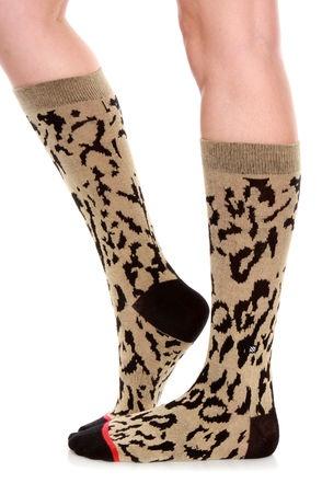 Stance Cheetah Animal Print Socks