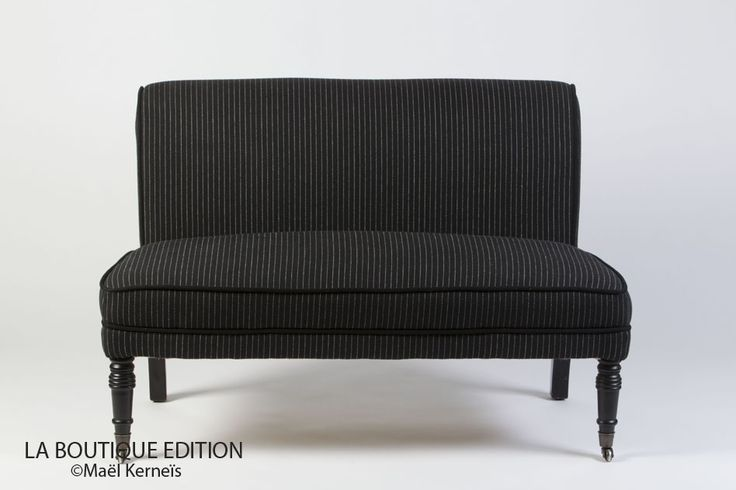 banquette james noire mobilier deco salon classique la boutique paris salon p le. Black Bedroom Furniture Sets. Home Design Ideas