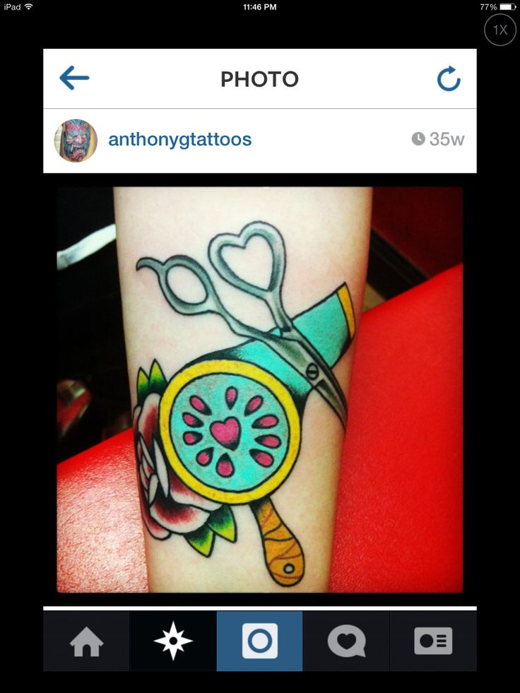 rose blow dryer scissor tattoo tattoo pinterest. Black Bedroom Furniture Sets. Home Design Ideas