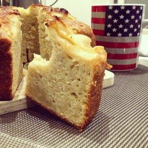 Un gâteau aux pommes et à la poudre d'amandes, très fondant tout en étant sans beurre.