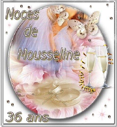 36 ans de Mariage : Noces de Mousseline