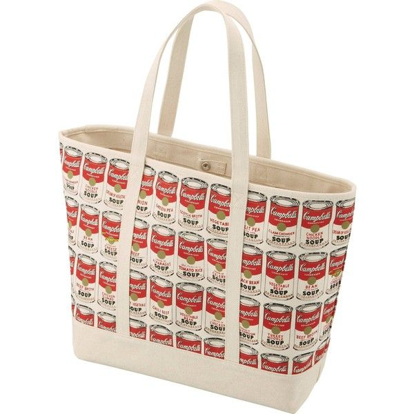 UNIQLO Women's Sprz Ny Andy Warhol Tote Bag ($20) ❤ liked on Polyvore featuring bags, handbags, tote bags, red, red tote bag, handbags tote bags, red purse, red handbags and red tote handbags