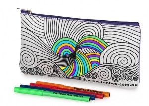 Funbox Activities Colour In Swirl Pencil Case. A personal favourite at team #funboxactivities  #swirls  #amazing #swirlygirly #getonit  @funboxactivities #kids #colouringin #kidsactivities #pencilcase