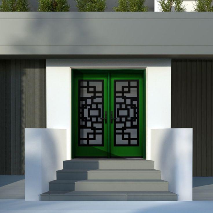 DoorShoppers.com | Fiberglass exterior door - two full glass sidelites - Diagano series - DI10