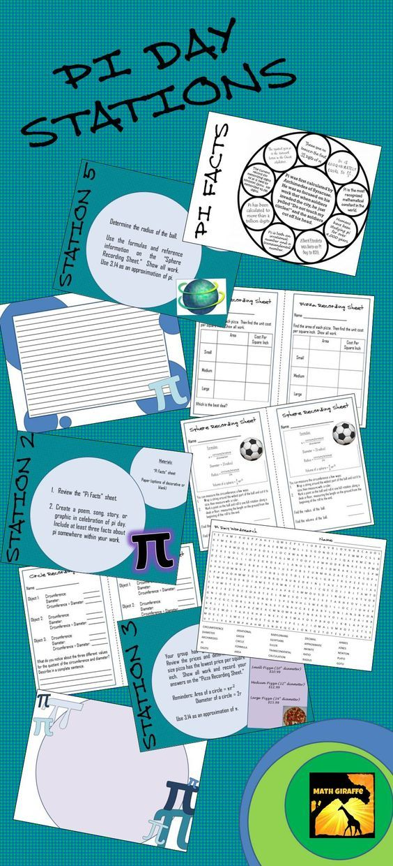 Great way to celebrate Pi Day with your middle school students - Pi Day Learning Stations