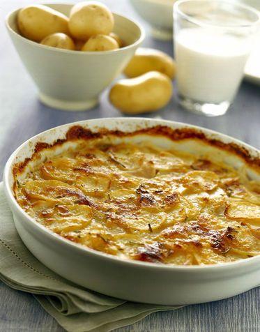 Gratin di patate e mortadella