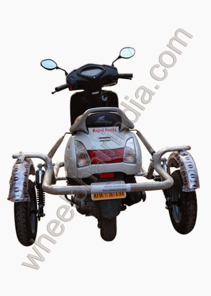 Specification of Two Wheeler Attachment For Handicapped  Honda Activa is the first scooter model of HMSI for the Indian market. It has revitalised the Indian scooter market after its launch in the year 2001. By design, the Activa let's anybody in the family get their hands on it. To make riding fun, we removed the gears and retained only those controls which can be safely left to your reflexes. Like the accelerator and the brakes in a lightweight body. So now, mothers can enjoy an easy.