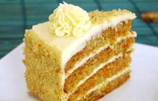 Torta de zanahoria, receta sabrosa | Postres