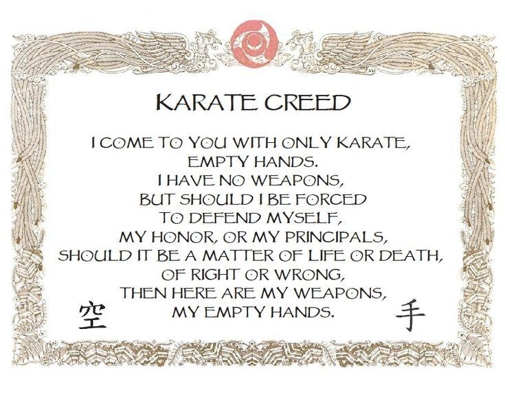 karate creed - Google Search