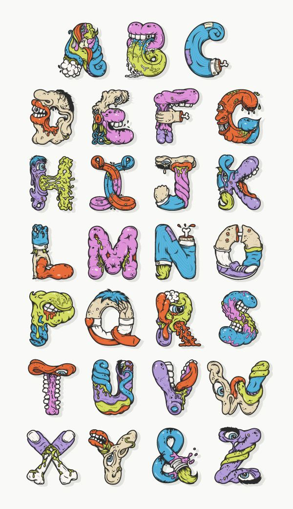 Alphabetcha (Letters) by Nathan Walker, via Behance