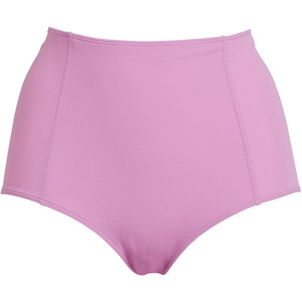 Monki Margie bikini highwaist ($13) ❤ liked on Polyvore featuring swimwear, bikinis, hacienda pink, high rise bikini, bikini bottoms, high waisted two piece, pink high waisted bikini and high waisted bikini swimwear