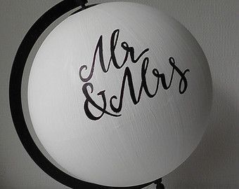 Guest Globe Wedding Sign by RusticEvent on Etsy