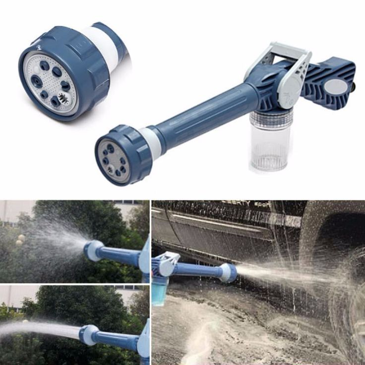 New arrival!8in1 Multi Function Jet Water Soap Cannon Dispenser Nozzle Spray Gun Cleaning Spray Gun Hose connector