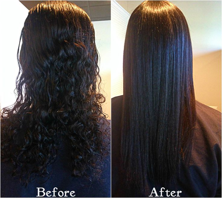 Chemical Straightening Before And After Chemical