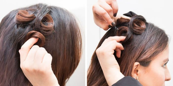 FOR PROM-READY CURLS THAT WILL LAST ALL NIGHT, PIN YOUR CURLS TO YOUR HEAD WHILE THEY'RE STILL HOT