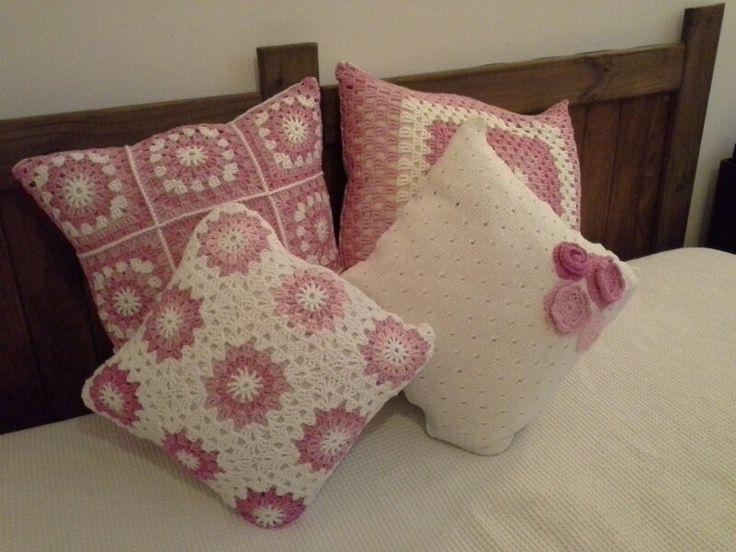 Almohadones tejidos en crochet. Diferentes tamaños | Cojines de ...