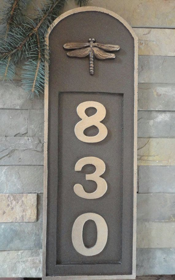 Dragonfly Craftsman House Numbers Address by Georgiegirlstudios, $55.00