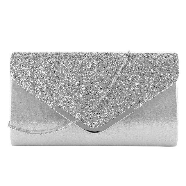 Women Glitter Shiny Formal Evening Clutch Bag Wedding Party Handbag Prom Purse