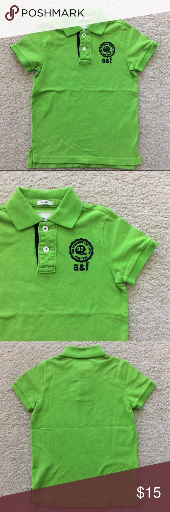 👫Abercrombie Kids Pique Polo Muscle Shirt Abercrombie Kids Pique Polo Muscle Shirt. Super cute green apple color with navy embroidery. 100% cotton. Size Boys M. Excellent condition. abercrombie kids Shirts & Tops Polos