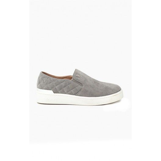 Sivé dámske topánky na voľný čas - fashionday.eu