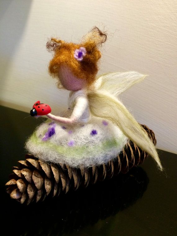 Needle felted fairy Waldorf inspired Wool fairy by DreamsLab3
