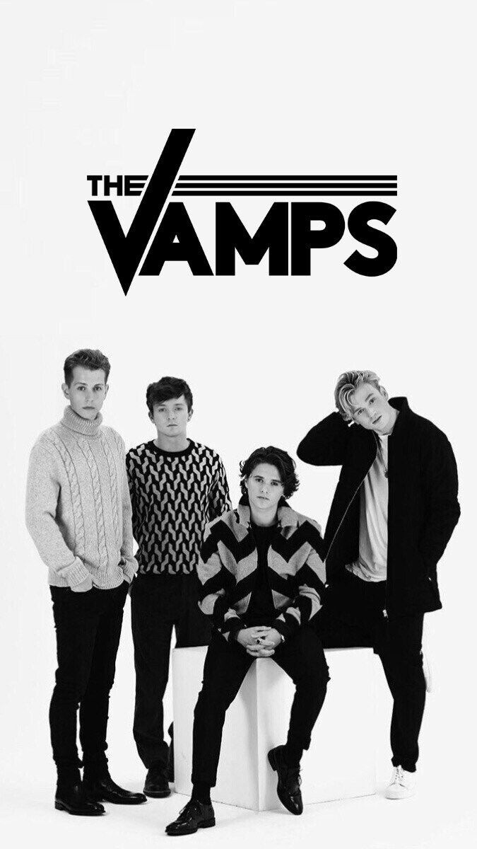 Brad Simpson Connor Ball James McVey Tristan Evans The Vamps Wallpaper Black and White