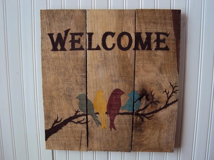 Reclaimed wood Sign by RusticWoodsCompany on Etsy