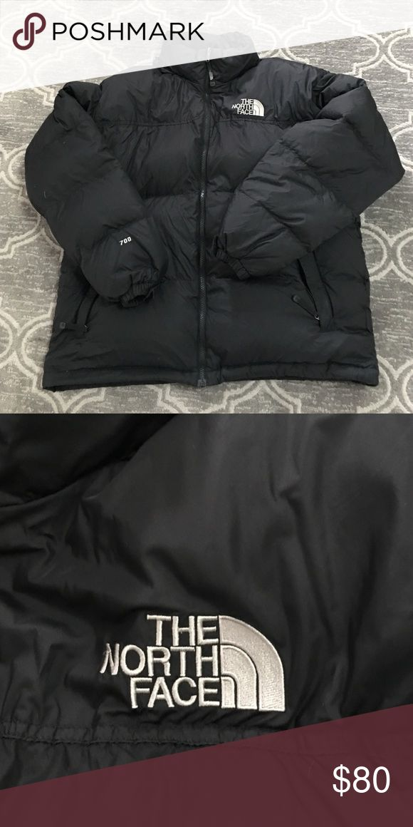 The North Face Nuptse Jacket The North Face Goose-Filled Down Coat. Classic Nupste style in solid black. Nylon shell, polyester lining and goose down fill. The North Face Jackets & Coats Ski & Snowboard