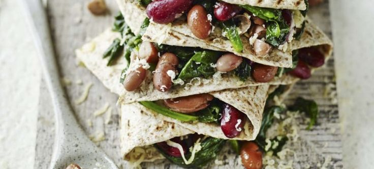 Spinach & Mixed Bean Quesadillas