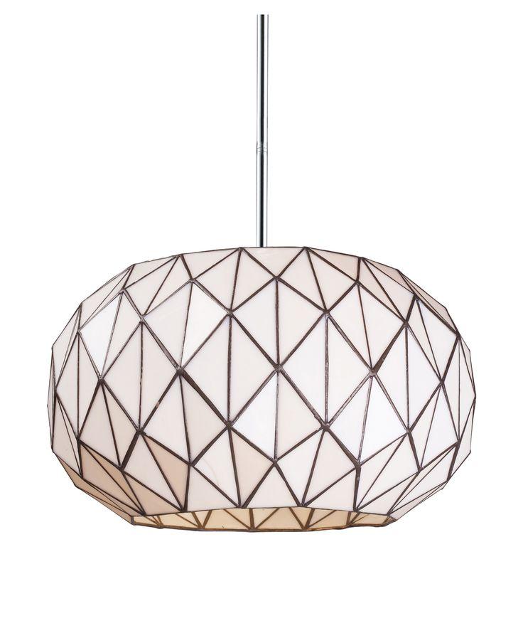Chrome Tetra Contemporary / Modern Three Light Pendant - Tetra Collection - Landmark Lighting (720223)