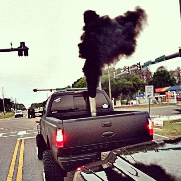 For all the Ford fans rollin coal powerstroke  Trucks