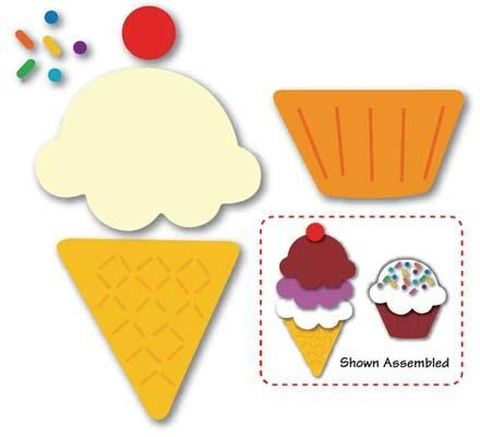 FREE Felt Cupcake and Ice Cream Cone Template / Sewing Pattern