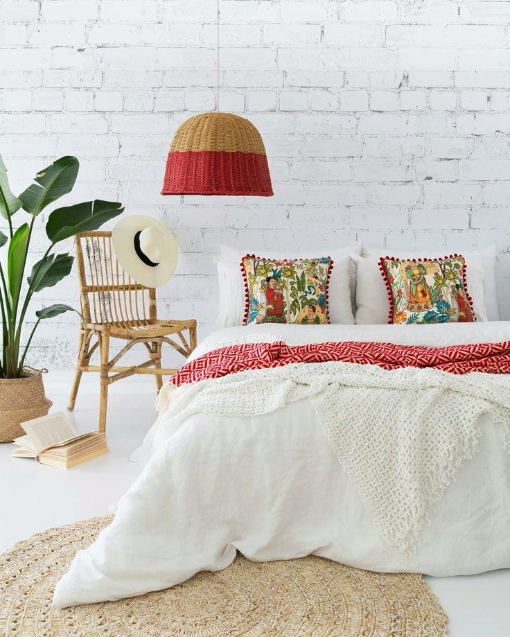 F R I D A 🌵  Frida's Garden Cushion by A Colourful Life