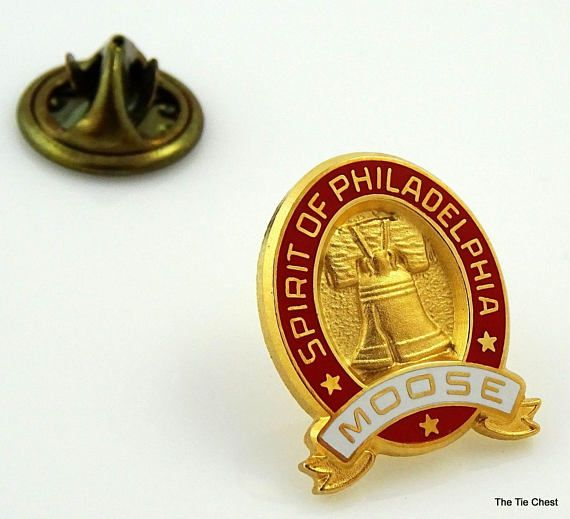 Great Moose collectible pin! Moose Spirit of Philadelphia Lapel Pin with the Liberty Bell  #thetiechest