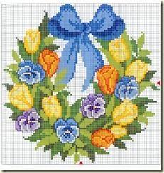 1 - ☂ ☂ ☂  Almofadas em  Ponto Cruz com Flores Amor- Perfeito -  /   ☂ ☂ ☂  Cushions Pad  to Cross Stitch Graph with Flowers Heartsease - -