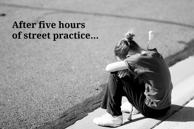 """""""After five hours of street practice..."""""""