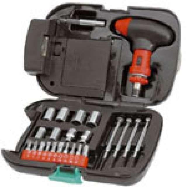 . Lote de caja de herramientas: 1 Led. 24 Accesorios. 4 Pilas AA/ R06 No Incluidas. Este lote de 5 cajas tiene el precio de 57�.