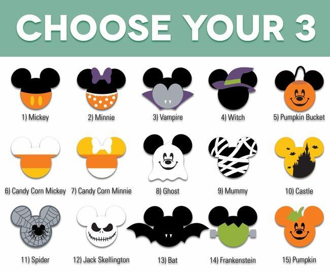 mickey heads halloween die cuts - Disney Halloween Photos