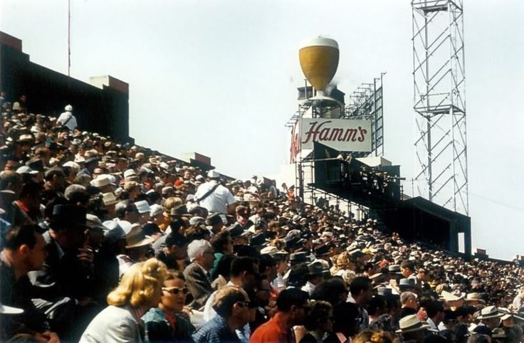 "Photo 8"" x 10"" Hamm's Beer Sign at Seals Stadium in 1958 (L@@K!)"