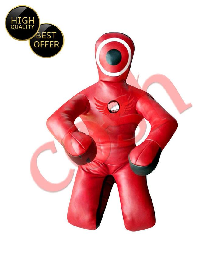 """COSH Submission Style Red   Black MMA Grappling Dummy In Synthetic Leather 72"""" #COSH"""