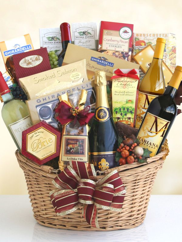 ... Pinterest Wine gift baskets, Gift baskets and Unique wedding gifts