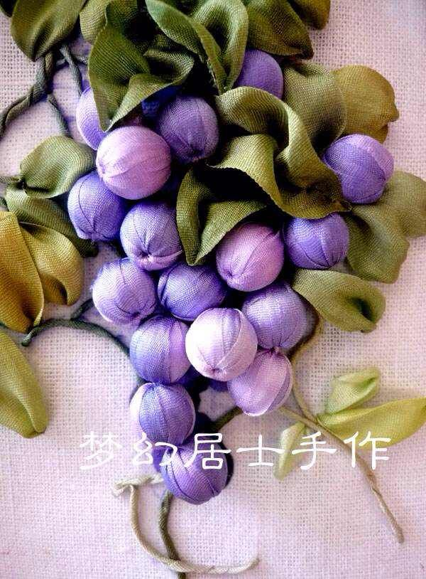 My Silk Ribbon Embroidery Work--Sweet Grape