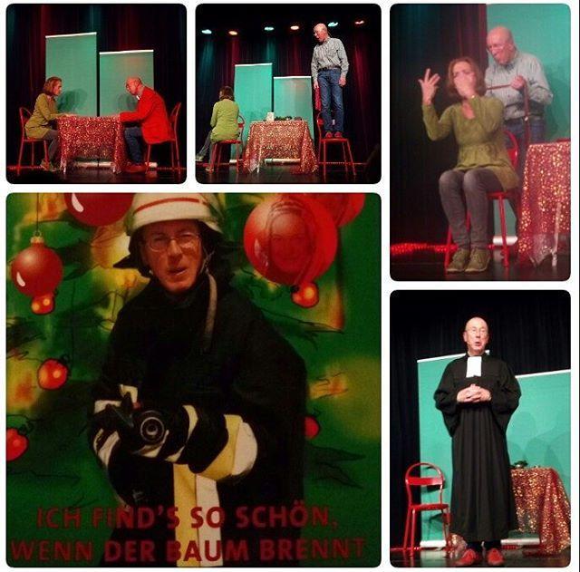 An #Weihnachten ins Theater - sehr zu empfehlen für #2017 . #herzhaft #lachen am laufenden Band. Vielen Dank für die tolle #Unterhaltung an das #Kabarett #Duo #Kabbaratz . #halbneun #Theater #Darmstadt